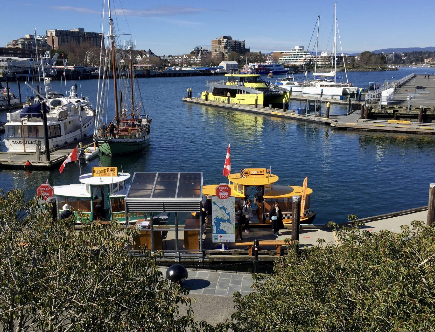Hafen von Victoria mit Harbour Ferry