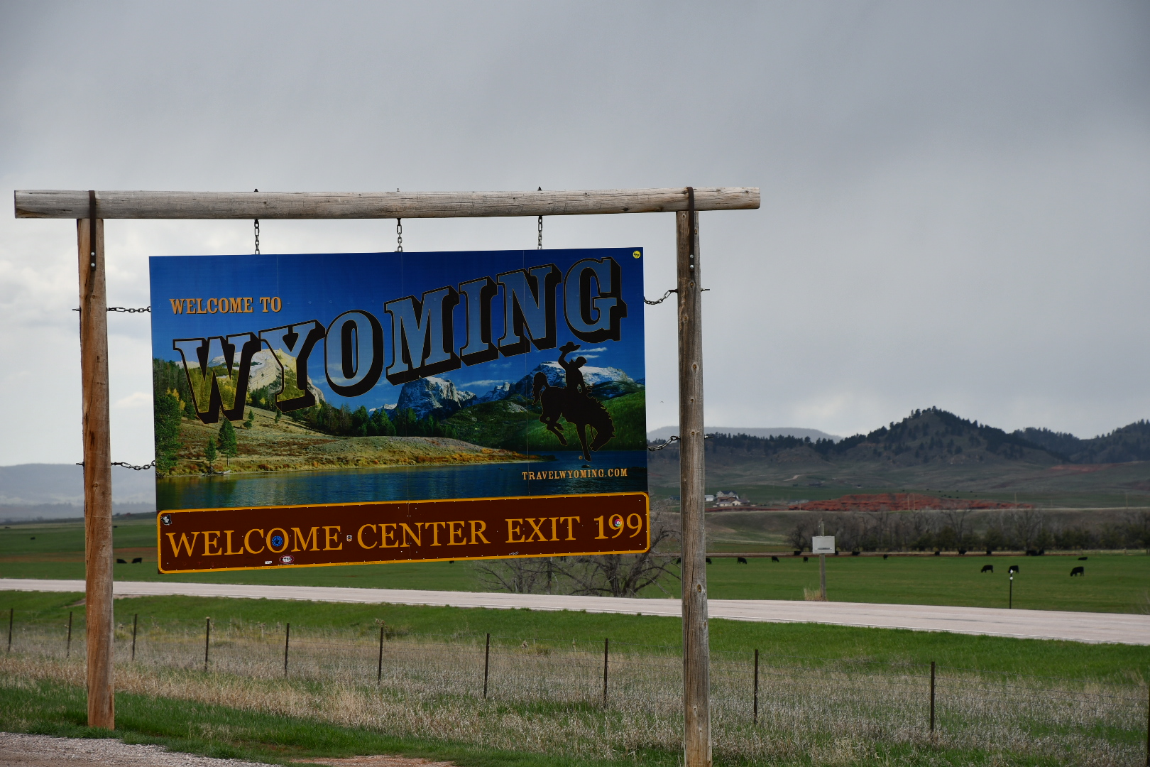 Billboard Welcome to Wyoming
